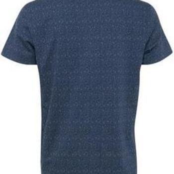 T-shirt donkerblauw blaadjes