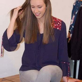 studio it blue blouse