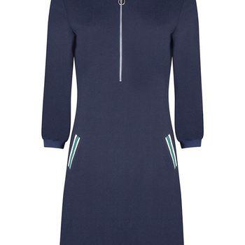 Dress H/S Striped Rib Pockets tramontana