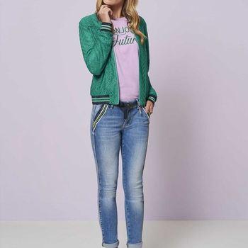 Jeans Fancy Zipper Pockets tramontana