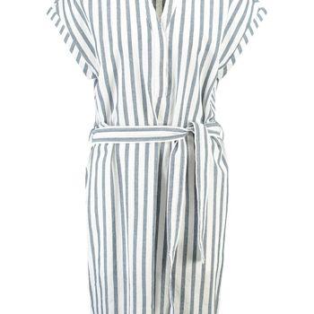 Gestreepte jurk met tailleceintuur garcia