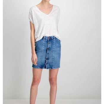 Wit t-shirt met V-hals garcia