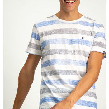 Blauw gestreept t-shirt garcia