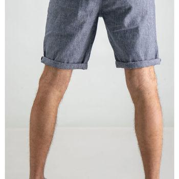 Grijze linnen short garcia