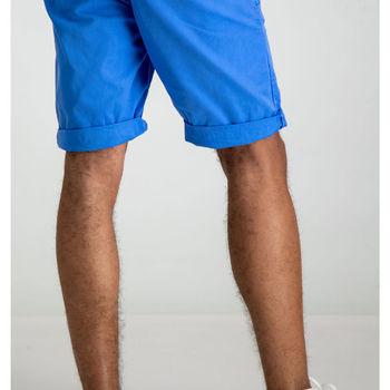 Felblauwe short