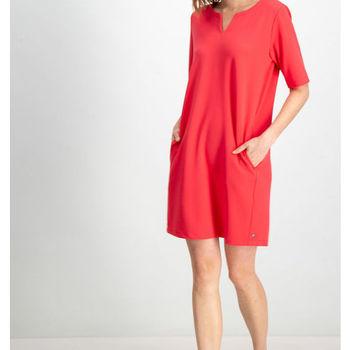 Rood jurkje met zakken garcia
