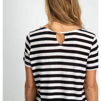 Zwart gestreept t-shirt garcia