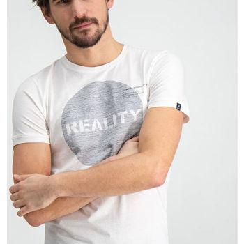 Wit t-shirt met borstopdruk garcia