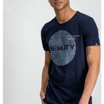 Donkerblauw t-shirt met borstopdruk garcia