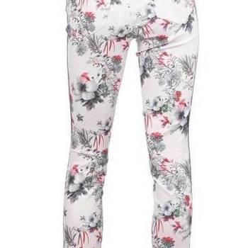 Witte broek bloemen