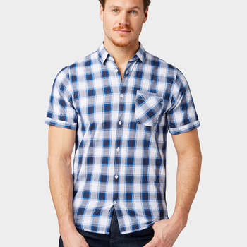 SHORT SLEEVE CHECK SHIRT tom tailor