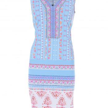 jurk v-hals met parels k-design