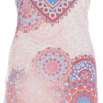 jurk ronde hals met parels k-design