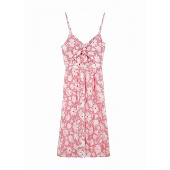 Amela dress rayures fleurs
