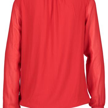 Rode blouse met ruffles