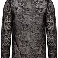 Blouse lace allover black