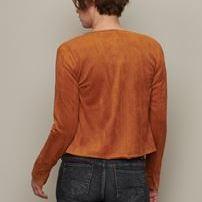 Jacket Suedine Eyelet Caramel