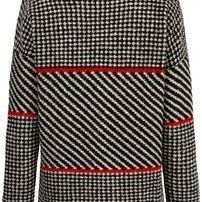 Cardigan Houndstooth Knit