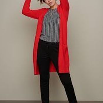 Knitted Cardigan Basic Bright Red