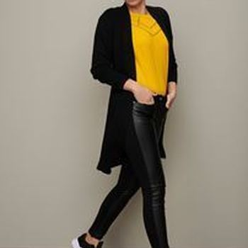 Knitted Cardigan Basic Black