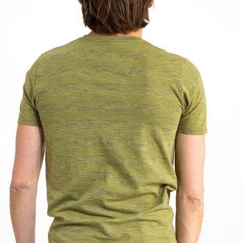 Groen T-shirt met borstzakje, golden olive
