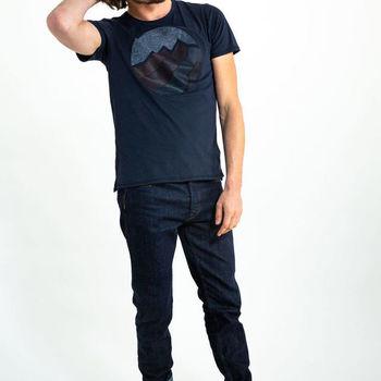 Blauw T-shirt met tekening
