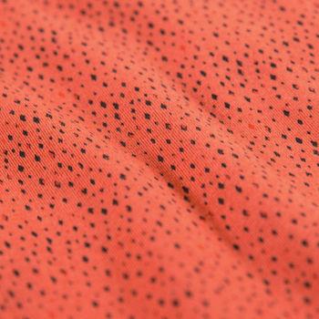 Oranje T-shirt met print en korte mouwen