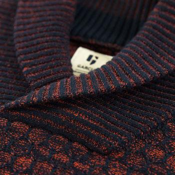 Blauwe trui met kraag