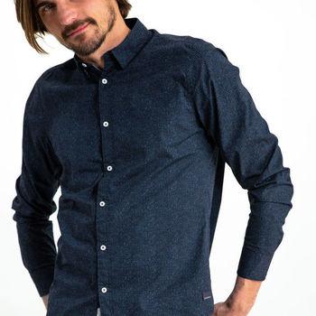 Donkerblauw overhemd