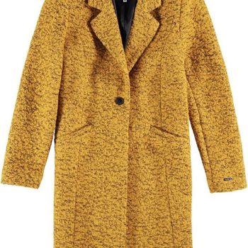 Okergele mantel jas