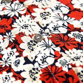 Rode bloemenjurk